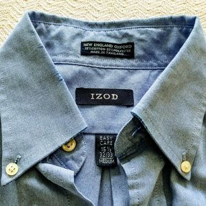 Izod men's Oxford button collar dress shirt medium